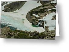 Spring Waterfall Arial Greeting Card