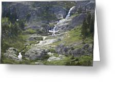Spring Waterfall In The Tetons Greeting Card
