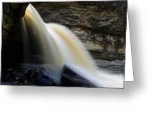 Spring Waterfall Greeting Card