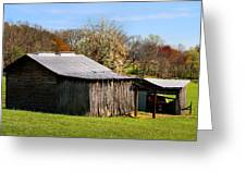 Spring Woods And Barn Greeting Card