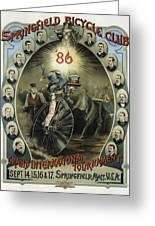Springfield Bicycle Club 1886 Greeting Card