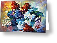 Springs Smile - Palette Knife Oil Painting On Canvas By Leonid Afremov Greeting Card
