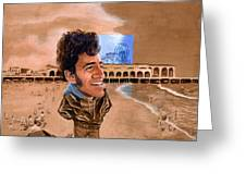 Springsteen On The Beach Greeting Card
