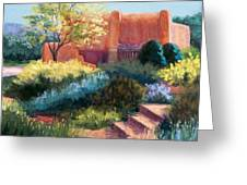 Springtime Adobe Greeting Card by Candy Mayer