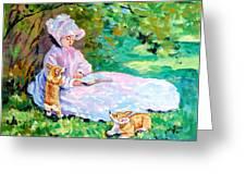 Springtime After Monet Greeting Card