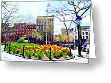 Springtime At Abingdon Square Park #2 Greeting Card
