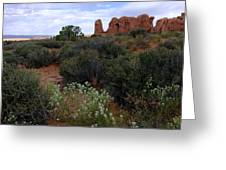 Springtime At Arches Greeting Card
