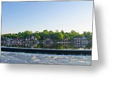 Springtime At Boathouse Row In Philadelphia Greeting Card