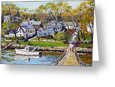 Springtime At Lobster Cove Annisquam Greeting Card