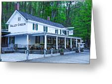 Springtime At The Valley Green Inn Greeting Card
