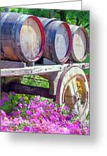 Springtime At V Sattui Winery St Helena California Greeting Card by Michelle Wiarda