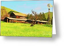 Springtime Barn San Francisco Bay Greeting Card by Gus McCrea