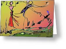 Springtime Dance Nine Greeting Card