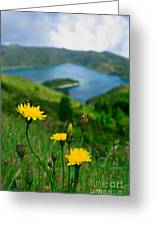 Springtime In Fogo Crater Greeting Card