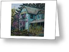 Springtime In Old Town Greeting Card by Mary Benke