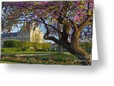 Springtime In Paris Greeting Card by Brian Jannsen