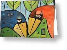 Springtime Lovebirds Greeting Card