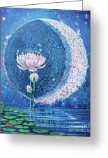 Springtime Moon Greeting Card