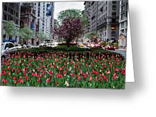 Springtime On Park Avenue Greeting Card
