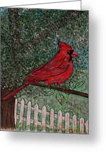 Springtime Red Cardinal Greeting Card