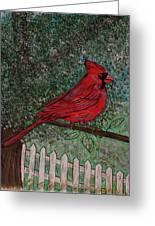 Springtime Red Cardinal Greeting Card