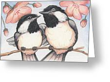 Springtime Sweethearts Greeting Card