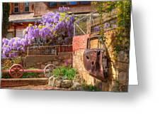 Springtime Wisteria In Old Bisbee Greeting Card
