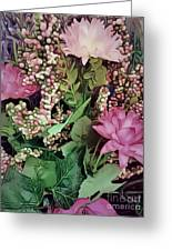 Springtime With Flowers Greeting Card