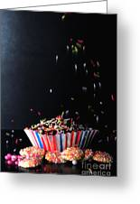 Sprinkles On Cup Cakes Greeting Card