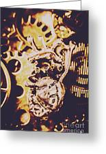 Sprockets And Clockwork Hearts Greeting Card