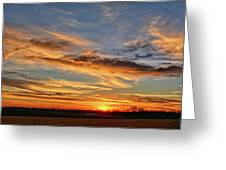 Spwinter Sunset Greeting Card