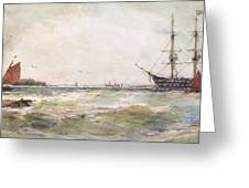 Squally Weather, Portsmouth Greeting Card