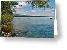 Squam Lake In New Hampshire   Greeting Card
