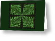 Square Crop Circles Four Greeting Card