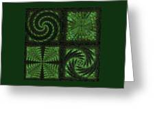Square Crop Circles Quad Greeting Card