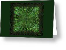 Square Crop Circles Three Greeting Card