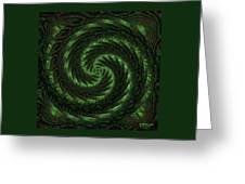 Square Crop Circles Two Greeting Card