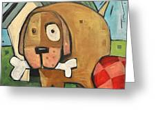 Square Dog Greeting Card
