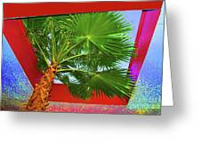 Square Palm Greeting Card