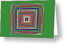 Square Shadings Greeting Card