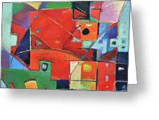 Square With Friends Greeting Card