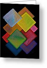 Squared Rainbow Greeting Card