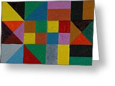 Squares And Triangles  Greeting Card