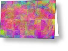 Squares Greeting Card