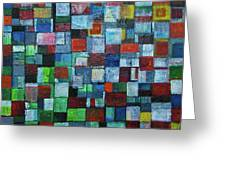 Squares Greeting Card