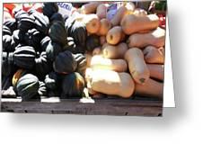 Squash At Market Greeting Card