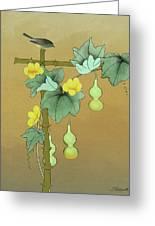 Squash Vine And Bamboo Greeting Card