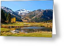 Squaw Valley In The Fall Greeting Card