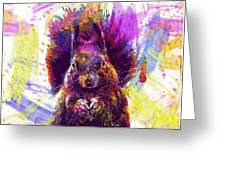 Squirrel Animals Possierlich Nager  Greeting Card