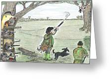 Squirrel Gun Club Greeting Card
